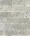 carrara brick honed