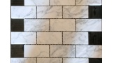 Bianco Carrara Brick Pattern Interlocking Mosaic