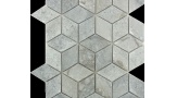 Cubist Concave in Grey Marble