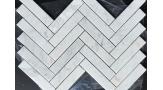 Bianco Carrara Herringbone Pattern Mosaic