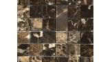 48mm x 48mm Field Mosaic in Polished Marron Emperador