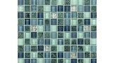 Stamina Patterned Marble and Glass Mosaic